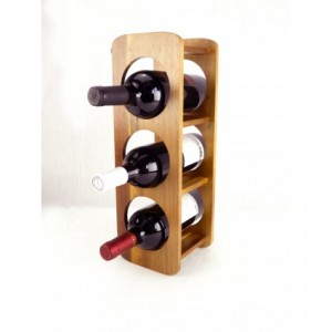 Acacia Wood 3 Bottle Wine Rack