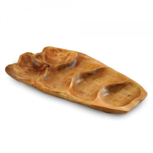 Root Wood Small Appetizer Platter, Natural Shape