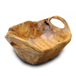 Medium Root Wood Bowl with Handles