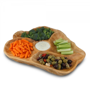 Large Root Wood Appetizer Platter