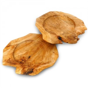 Root Wood Serving Tray Charger - Set of 2