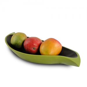 Mango Wood Curry Leaf Tray - Avocado