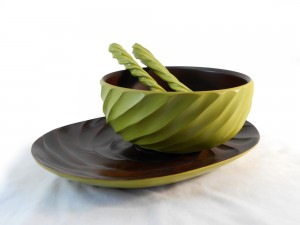 Mango Wood Avocado Spiral Dining Set