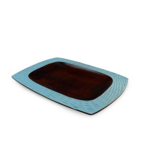 Turquoise Mango Wood Serving Platter