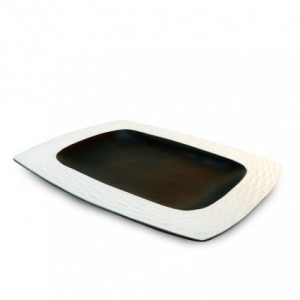 Bright White Mango Wood Serving Platter