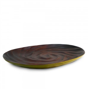 Avocado Mango Wood Spiral Serving Platter