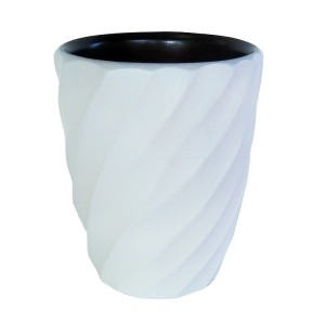 Bright White Wood Spiral Utensil Vase