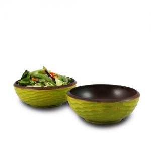 Avocado Mango Wood Side Salad Bowl - Set of 2
