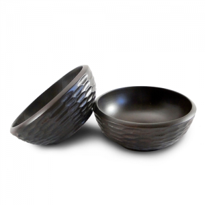 Chocolate Mango Wood Side Salad Bowl - Set of 2