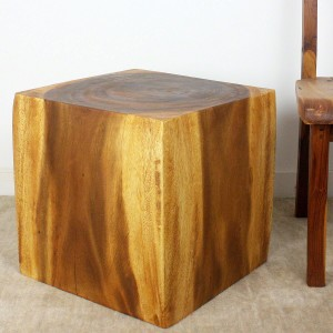 "Cube End Table 18"" x 18"" x 18"" - Oak"