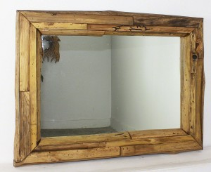 "Teak Branch Mirror 32"" x 25""  - Tung Oil"