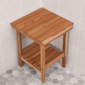 Mini Teak Shower Bench