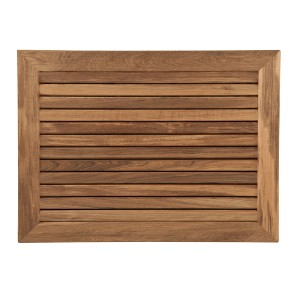 Teak Mat with Wide Frame