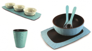 Turquoise Mango Wood Dining Set