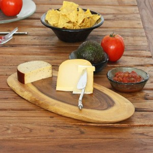 Wood Bias Slice Serving Board Set
