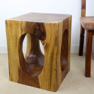 "20"" x 16"" Windows Wood End Table - Walnut"