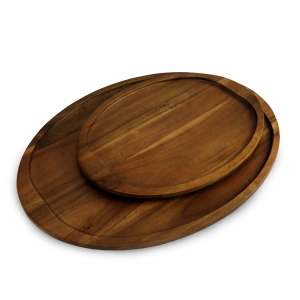 Acacia Wood Small Oval Platter