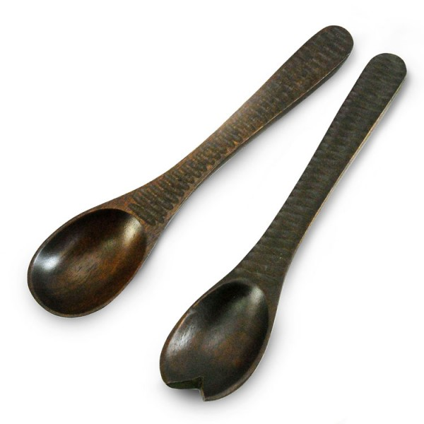 Chocolate Mango Wood Salad Servers