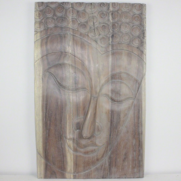 Buddha Wall Panel Serene Natural Wood Decor