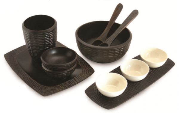 Chocolate Mango Wood Dining Set