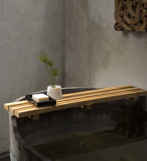 Teak Bath Bar - Natural Teak Oil Finish