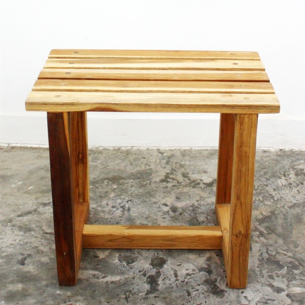 Teak Spa Stool - Natural Teak Oil Finish