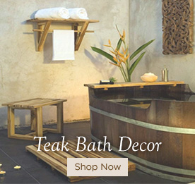 Teak Bath Decor