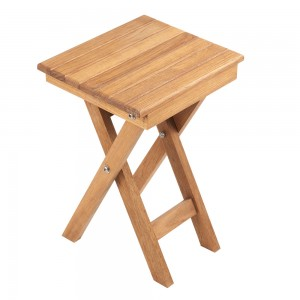 "11"" Folding Teak Accent Table"