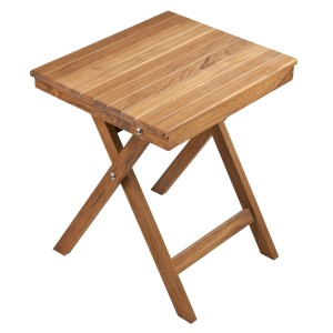 "16"" Folding Teak Accent Table"