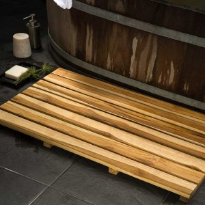 Teak Spa Mat - Natural Teak Oil Finish