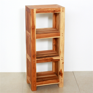 Teak Tower Shelving Unit