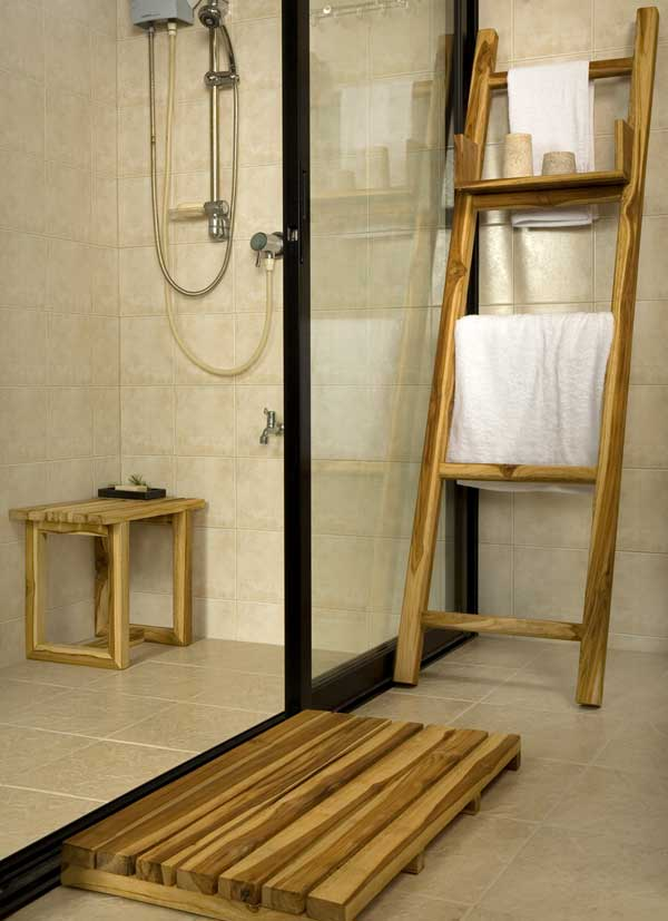 Teak Bathroom Set
